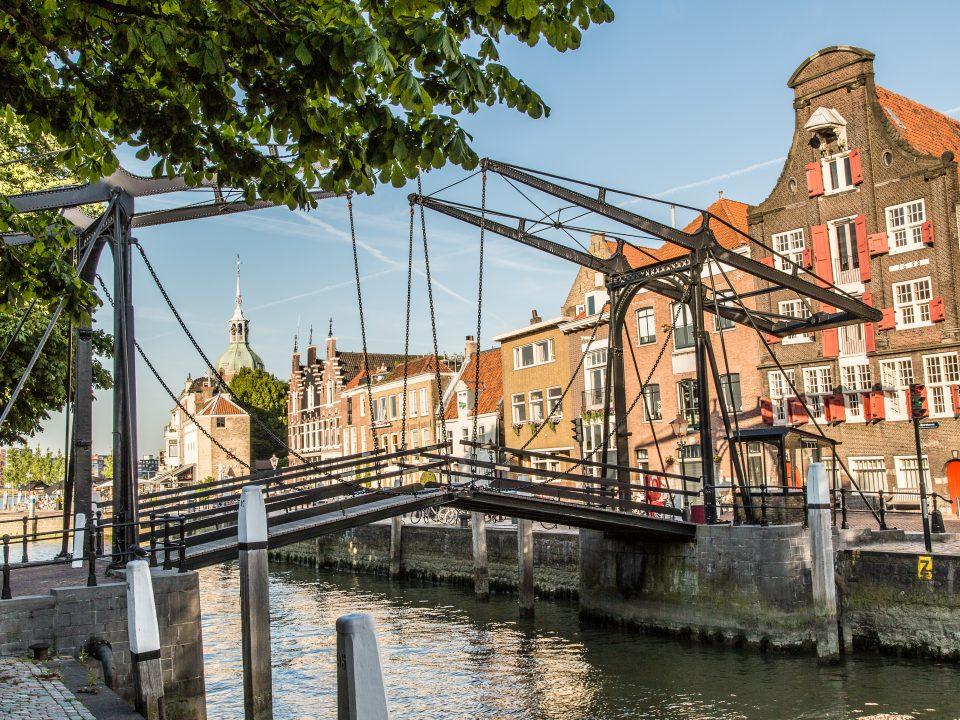 Historische havens - Dordrecht - Damiatebrug - Wolwevershaven - Kuipershaven - pakhuis
