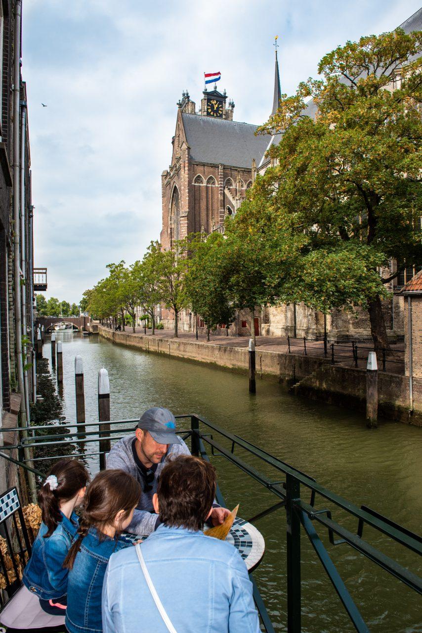 Historische havens - Dordrecht - Pottenkade - Voorstraathaven - Grote Kerk