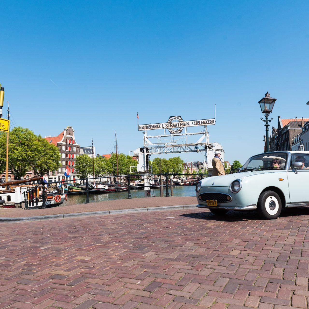 Historische havens - Dordrecht - Roobrug - auto - Kuipershaven - Dok Straatman - Pakhuis Stokholm