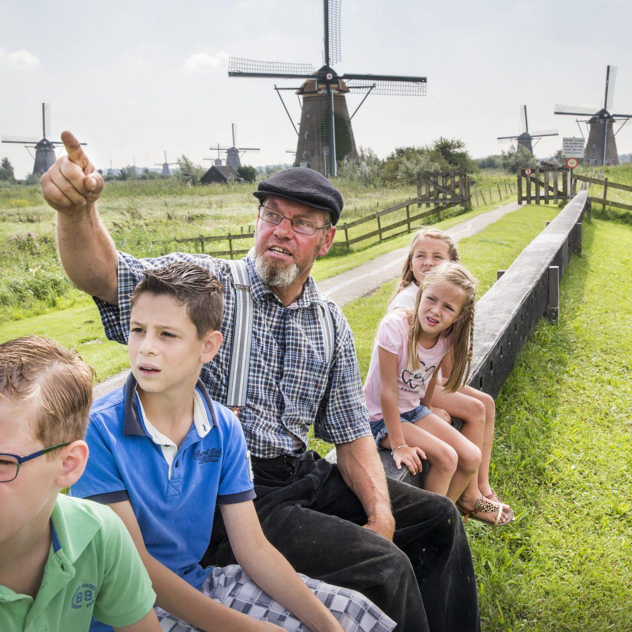 Kinderdijk - toerisme - molens - molenaar - kinderen